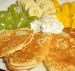 Placuszki z otrębami i owocami