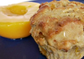 Muffiny z brzoskwiniami