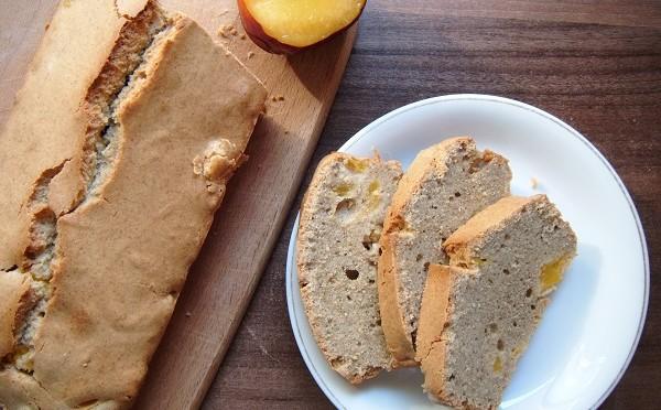 Ciasto gryczane z nektarynką, zdrowe ciasto, dietetyczne ciasto
